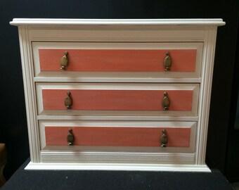 Beach Bungalow Bedroom: Three drawer dresser