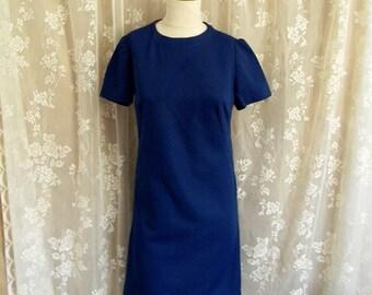 Vintage 1960's Royal Blue shift dress