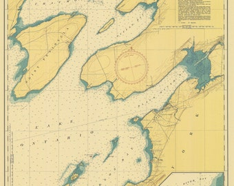 Lake Ontario - East End Historical Map 1946