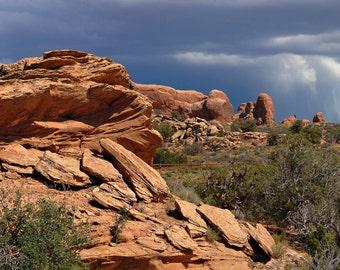 Desert Storm, Arches Canyon, Utah