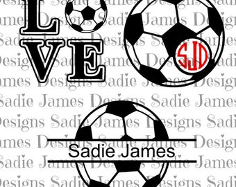 Soccer ball sports collection SVG and Silhouette Studio cutting file, Instant Download