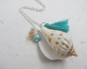 Shell necklace, beach necklace, summer jewelry, shell jewelry