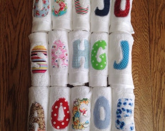 Handmade Personalised Applique Face Cloth