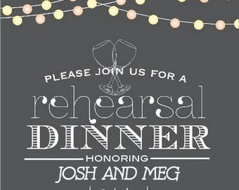 Customizable Rehearsal Dinner Invitations