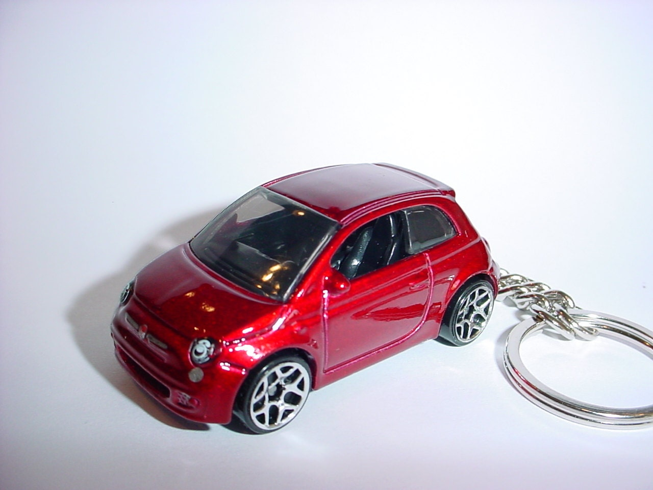 3d fiat 500 porte cl personnalis keyring porte cl s par. Black Bedroom Furniture Sets. Home Design Ideas