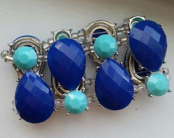 Chunky Blue Statement Bracelet