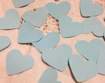 Large Baby Blue Heart Table Decoration, Event Confetti, Table Scatters, Baby Shower, Wedding