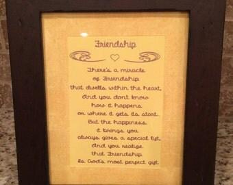 Beautifully Framed Friendship Poem!