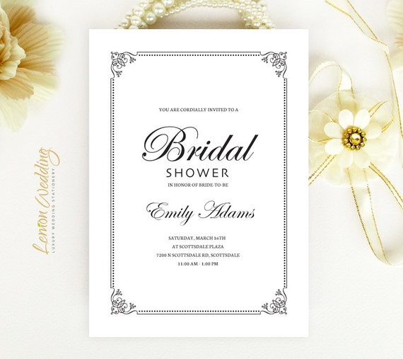 cheap bridal shower invitations calligraphy wedding shower cards