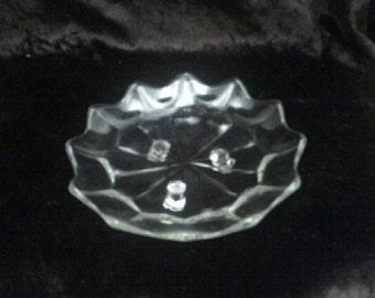Star shaped 3 legged Glass Bowl