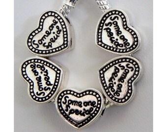 Someone Special Heart- European Charms- European Style Charm Bracelet