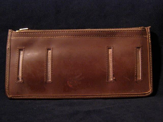 vintage ll bean leather rifle cartridge holder belt ammo