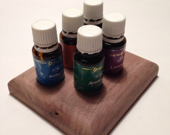 Small Essential Oil Stand with rounded edges holds 5 (15ml) bottles