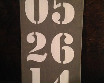 Personalized Wedding / Birth Date Wood Sign
