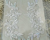 Two Beautiful Wedding Appliques, Bridal Gown Appliques OK  #52 ok