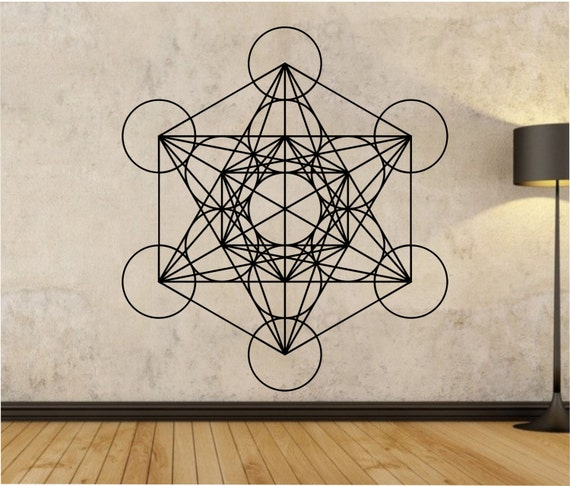metatrons cube wall decal sticker art decor by stateofthewall. Black Bedroom Furniture Sets. Home Design Ideas