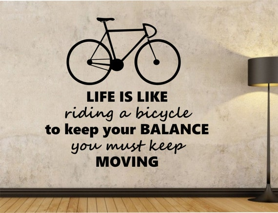Life Is Like Riding A Bicycle Quote Bike Quote By