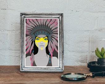 Native American Women Art Print