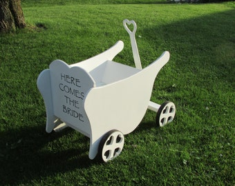 Flower Girl Wedding Wagon