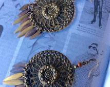 Metal Chandelier Boho Earrings