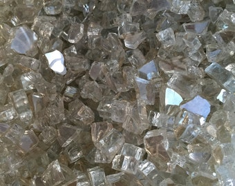 Decorative Filler - 1 LB of Fire Glass-Mirror Glass. Great for Terrariums and Plant Top Soil Cover