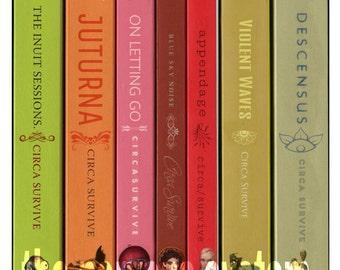 Circa Survive albums as a series of books (POSTER PRINT)