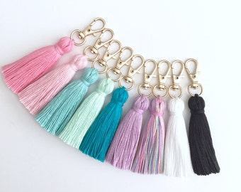 The Original Tiny Tassel Gold Keychain