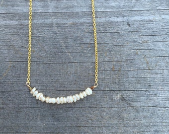 Freshwater Pearl Necklace - Pearl Necklace - Minimalist Necklace -Dainty Necklace - Petite Necklace - Bridesmaid Necklace