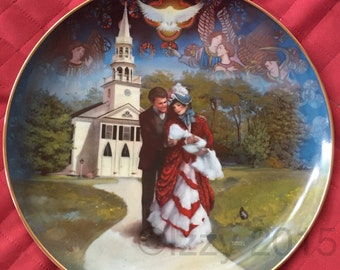 """Lovely Rob Sauber """"The Christening"""" from Curator Collection Collector Plate"""