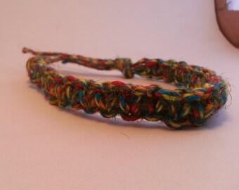 Natural fiber bracelet