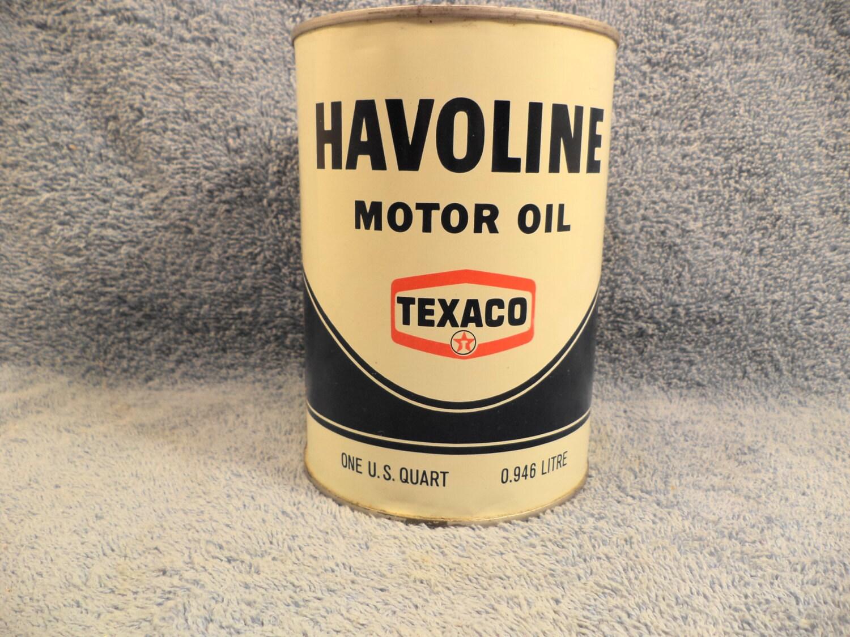 Texaco Havoline Motor Oil 1 Quart Motor Oil Can