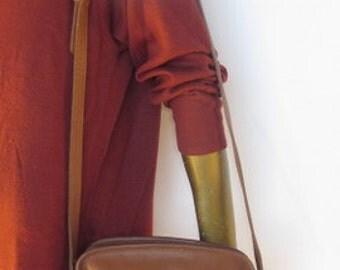 med sz vintage brown leather coach purse
