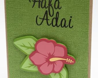 Hafa Adai Greeting card. Hello in Chamorro in tropical colors.