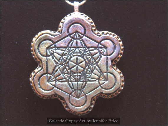 Metatron 39 s cube sacred geometry polymer clay for Metatron s cube jewelry