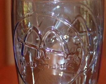 Vintage 1961 blue glass McDonald's coke style glass