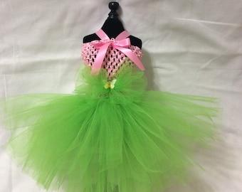Pink And Green Dog Dress Tutu
