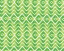 MODA - Fleurologie -Stephanie Ryan - Floral Geometric Zig Zag Chevron Energy - 7195 13 - Light Green - Geometric - Chevron - Green - Zig-Zag