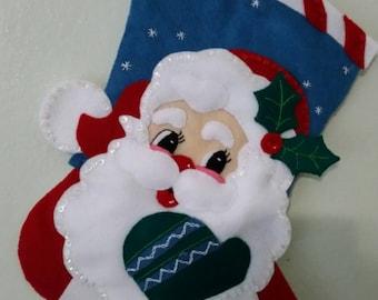 Hand sewn Christmas stocking