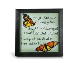 Butterfly - Office Print and Frame
