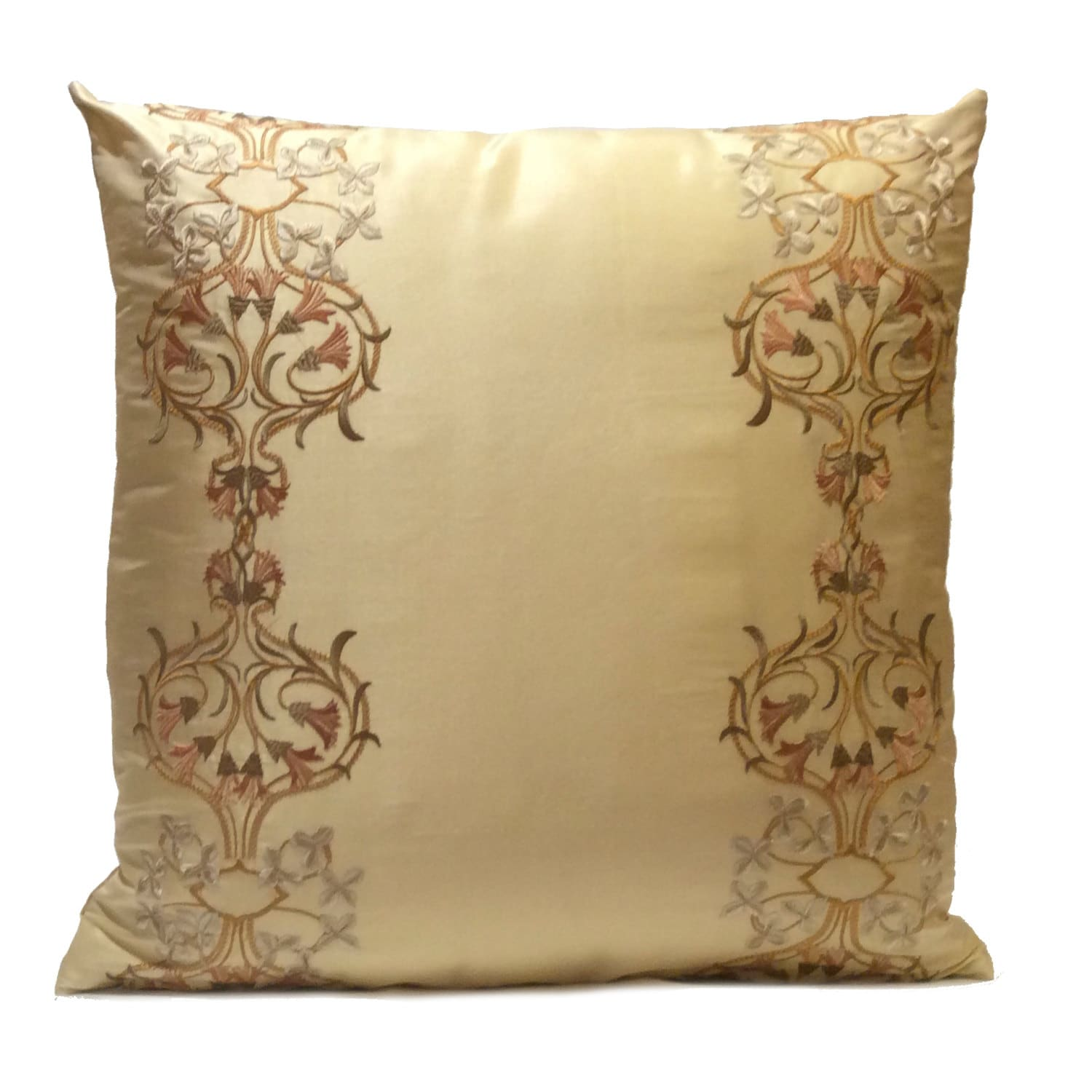 Beige gold pillow throw pillow cover decorative pillow for Beige and gold pillows
