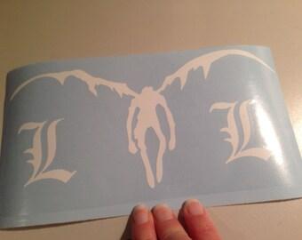 Death Note Ryuk silhouette vinyl window decal