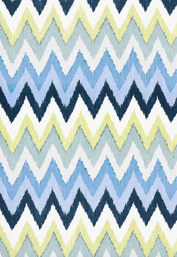 Items similar to schumacher ethnic chic ikat zig zag for Schumacher martyn lawrence bullard