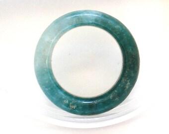S A L E 50% Off!!! JADEITE JADE GREEN Donut Ring (14.8x4.1mm)