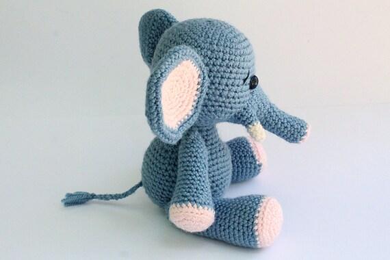 Free Crochet Pattern For Stuffed Elephant : PATTERN : Elephant Amigurumi Elephant pattern-Crochet by ...