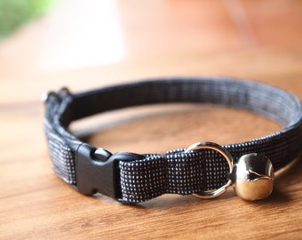 Black Cotton Breakaway Cat Collar