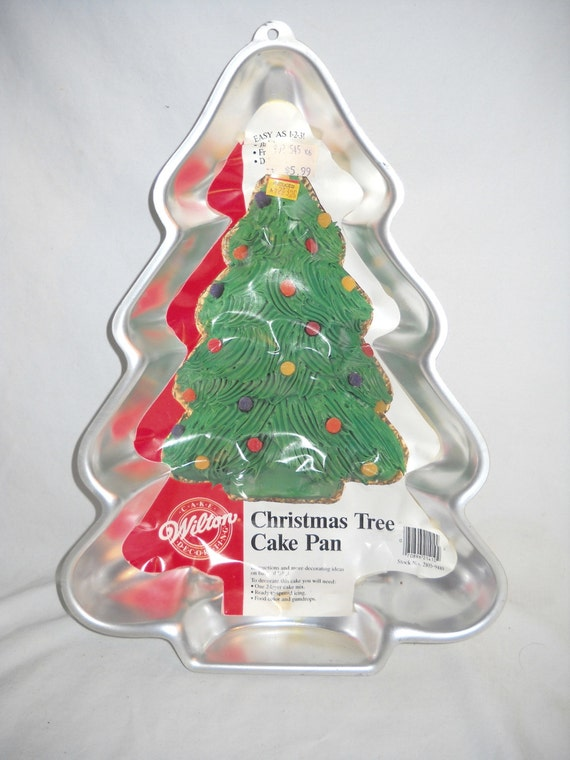 Christmas Tree Cake Pan Vintage Wilton 1986