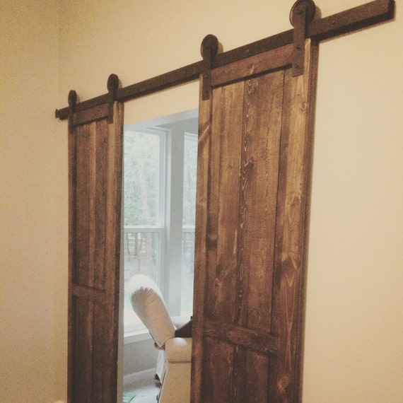 On sale custom barn door with hardware by awrestoration on for Custom barn doors for sale