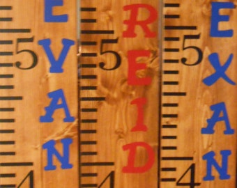 Large wood growth chart