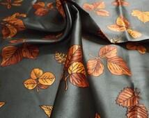 Autumn Scarf Beautiful Vintage Scarf Polyester Satin Italian Beautiful Autumn Colours
