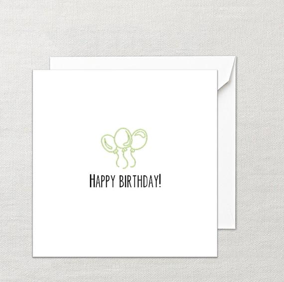 happy birthday blank note birthday greeting card